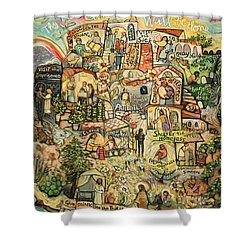 The Works Of Mercy Shower Curtain