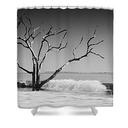 Shower Curtain featuring the photograph The World Is Coming Down II by Dana DiPasquale