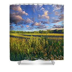 The World Is Quiet Here Shower Curtain by Phil Koch
