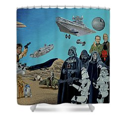 The World Of Star Wars Shower Curtain by Tony Banos