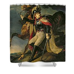 The Wounded Cuirassier Shower Curtain by Theodore Gericault