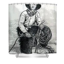 The Wrangler Shower Curtain by Karon Melillo DeVega