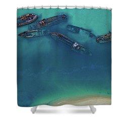 The Wrecks Shower Curtain