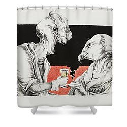 The Xs Shower Curtain by Yvonne Wright