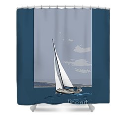 The Yacht Shower Curtain by Roger Lighterness