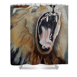 The Yawn Shower Curtain by Maris Sherwood