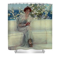 The Year's At The Spring -  All's Right With The World Shower Curtain by Sir Lawrence Alma-Tadema
