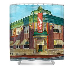 The Yellow Brick Bank Restaurant Shower Curtain