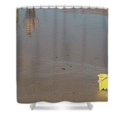 The Yellow Bucket Shower Curtain