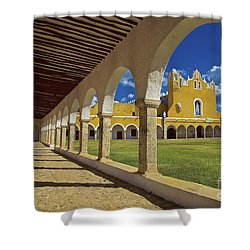 The Yellow City Of Izamal, Mexico Shower Curtain by Sam Antonio Photography