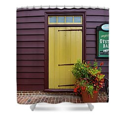 The Yellow Door In Annapolis Shower Curtain