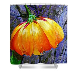 The Yellow Flower Shower Curtain by Janet Garcia