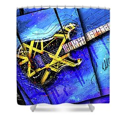 The Yellow Jacket_cropped Shower Curtain by Gary Bodnar