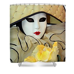 The Yellow Rose Shower Curtain by Donna Corless