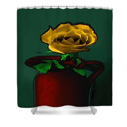 The Yellow Rose Painting Shower Curtain