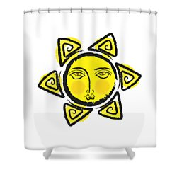 The Yellow Sun.. Png Shower Curtain