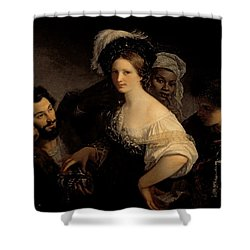 The Young Courtesan Shower Curtain by Alexandre Francois Xavier Sigalon
