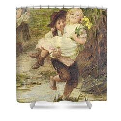 The Young Gallant Shower Curtain by Fred Morgan