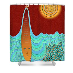 The Young Man And The Sea Shower Curtain
