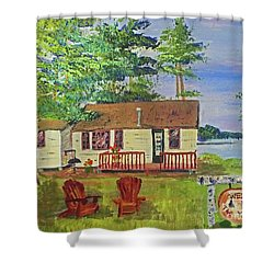 The Young's Camp Shower Curtain