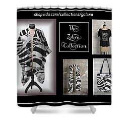 The Zebra Collection Shower Curtain by Geraldine Alexander