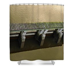 The Zen Of Hard Edges Shower Curtain by Laura Ragland