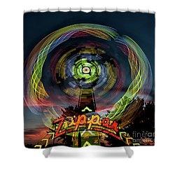 The Zipper Motion Art By Kaylyn Franks Shower Curtain