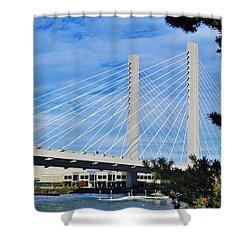 Thea Foss Bridge  Shower Curtain by Martin Cline