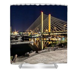 Thea's Landing And The 509 Bridge Shower Curtain by Rob Green