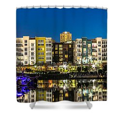 Thea's Landing On The Foss Waterway Shower Curtain