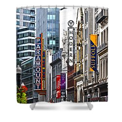 Shower Curtain featuring the photograph Theatre District by Stephen Flint