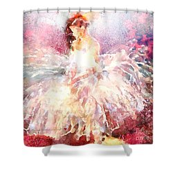 thebroadcastmonkey Painting Shower Curtain by Catherine Lott