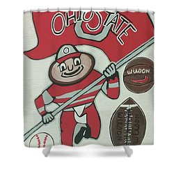 Thee Ohio State Buckeyes Shower Curtain by Jonathon Hansen