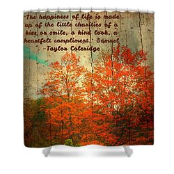 The Happiness Of Life By Taylor Coleridge Shower Curtain