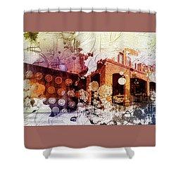 Them Olden Days Shower Curtain