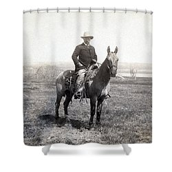 Theodore Roosevelt Horseback - C 1903 Shower Curtain