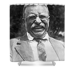 Theodore Roosevelt Laughing Shower Curtain