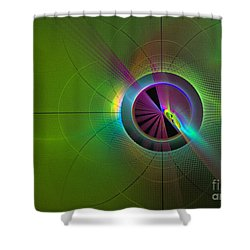 Theory Of Green - Abstract Art Shower Curtain