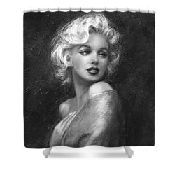 Theo's Marilyn Ww Bw Shower Curtain