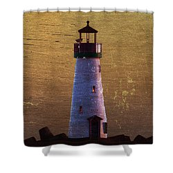 Shower Curtain featuring the photograph There Is A Lighthouse by B Wayne Mullins