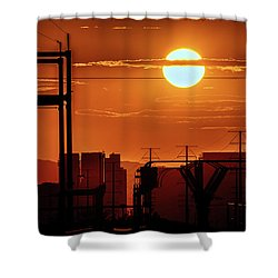 Shower Curtain featuring the photograph There It Is by Michael Rogers