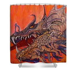 There Once Were Dragons Shower Curtain