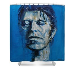 There S A Starman Waiting In The Sky Shower Curtain