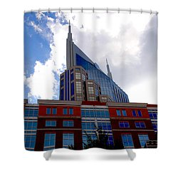 There Where Modern And Old Architecture Meet Shower Curtain by Susanne Van Hulst