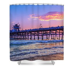 There Will Be Another One - San Clemente Pier Sunset Shower Curtain