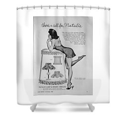 there's a Call for...Natalie Shower Curtain