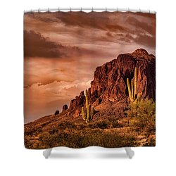 Shower Curtain featuring the photograph There's Gold In Them Hills  by Saija Lehtonen