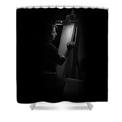 Theresa Marie Johnson, Painter Shower Curtain