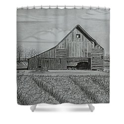 Theresa's Barn Shower Curtain