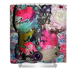 Therese - In The Garden Of My Heart Shower Curtain
